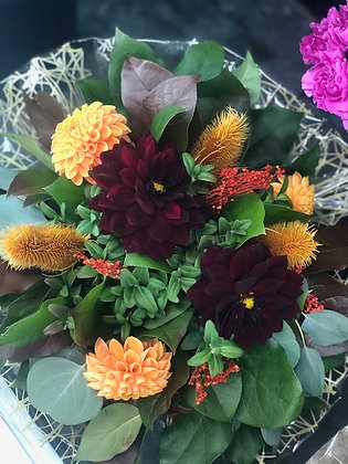 Round Hand Tied Bouquet of Mixed Florals