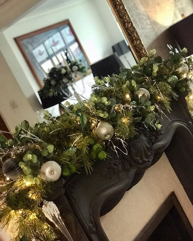Another look at my mantle garland, made