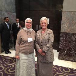 الاميرة منى مع الدكتورة فاطمة
