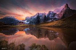 Sunrise on Baita G. Segantini