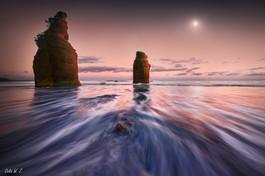 Moonset and Sunrise