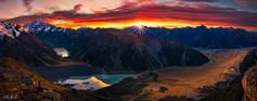 Sunrise on the peak of Mt. Cook
