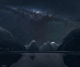Sparkling Sky above Milford Sound