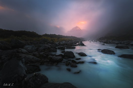 Mt Cook in the Fog