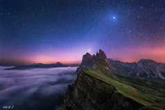 The Sparkling Sky Above The Seceda