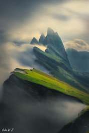 The Seceda in The Sea of Cloud