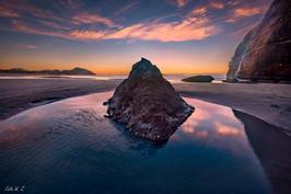 Wharariki海滩日落