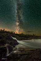 The milky way above Moon River Falls