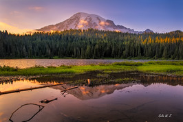 Sunset Lights on Mount Rainier