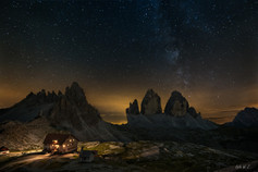 Dreizinnenhütte Under the Stars