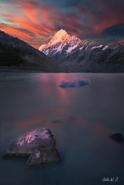 日落在庫克山