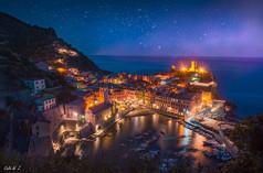 Vernazza Bay in the Night