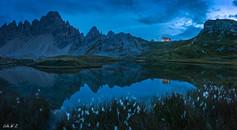Dreizinnenhütte in Twilight