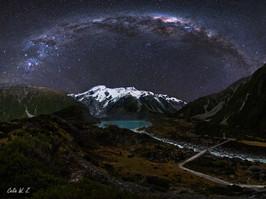 Ice Lake under the Milky Way