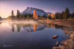 Canadian Rocky Autumn Series 8 - Morning Fog