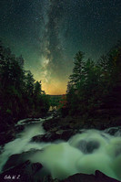 Ragged Falls meets the milky way in Autumn