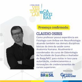 Palestrante confirmado: Claudio Osiris