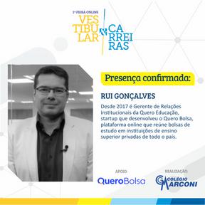 Palestrante convidado: Rui Gonçalves