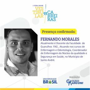 Palestrante convidado: Fernando Morales