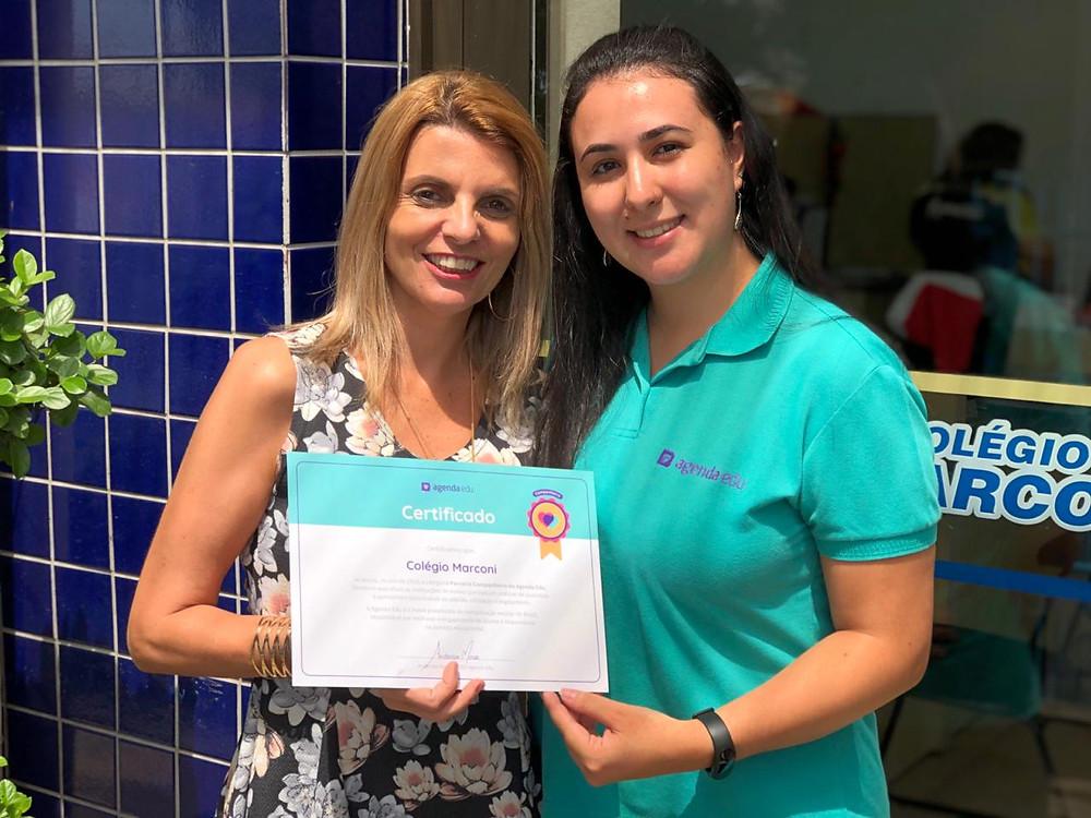 Certificado de Reconhecimento Colégio Marconi Guarulhos AgendaEdu