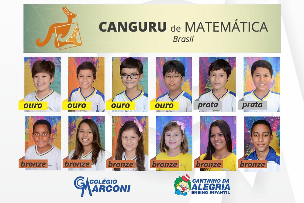 Medalhistas Colégio Marconi Canguru de Matemática Brasil