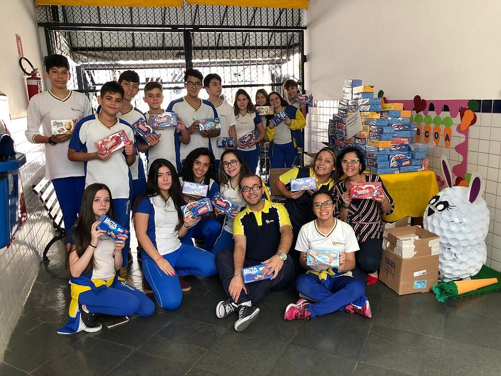 Campanha Páscoa Solidária Colégio Marconi