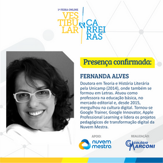 Palestrante confirmada: Fernanda Alves