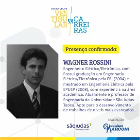 Palestrante confirmado: Wagner Rossini