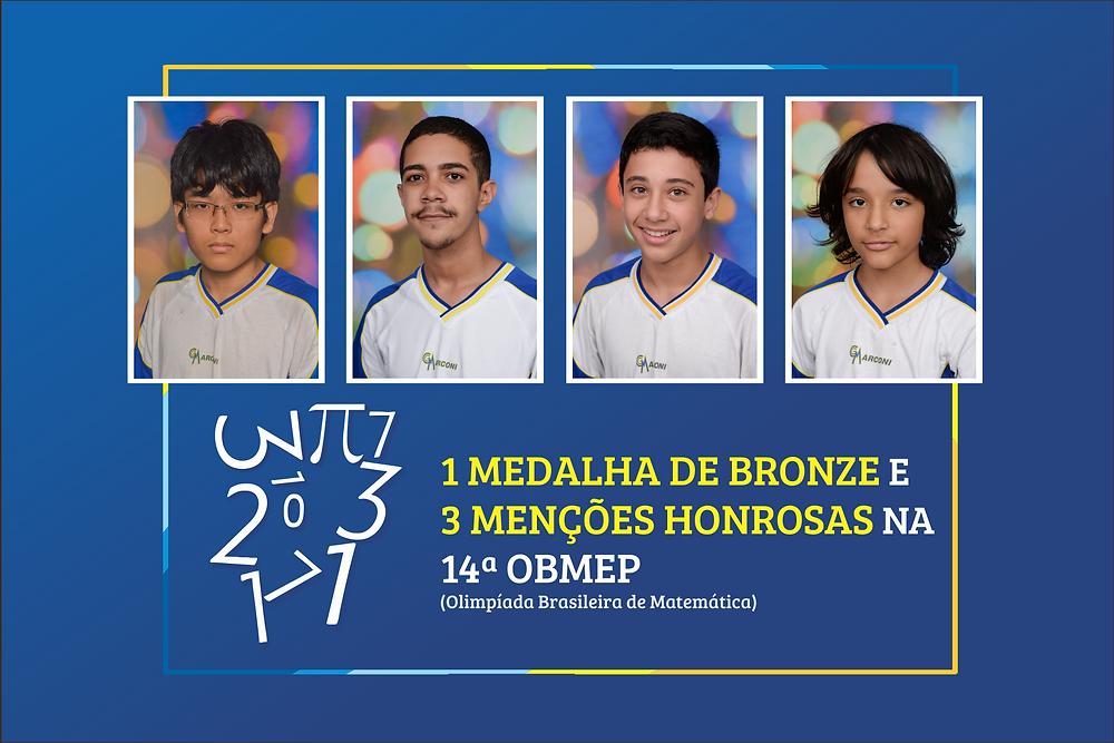 Alunos premiados na OBMEP 2018