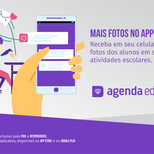 MAIS FOTOS NO APP AGENDA EDU