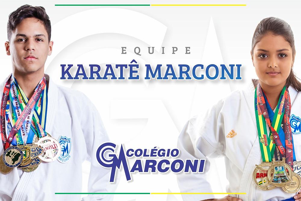 Atletas do Karatê Marconi representam o Brasil no Marrocos