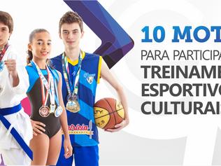 10 motivos para seu filho participar das atividades Esportivas e Culturais no Colégio