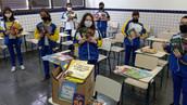 ALUNOS PARTICIPAM DE PROJETO SOCIAL  EM PARCERIA COM A ACNUR - AGÊNCIA DA ONU PARA REFUGIADOS