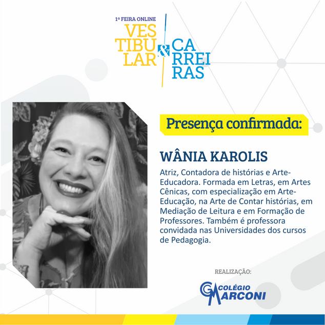 Palestrante convidada: Wânia Karolis