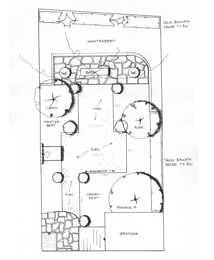 Gartenplan 1:50