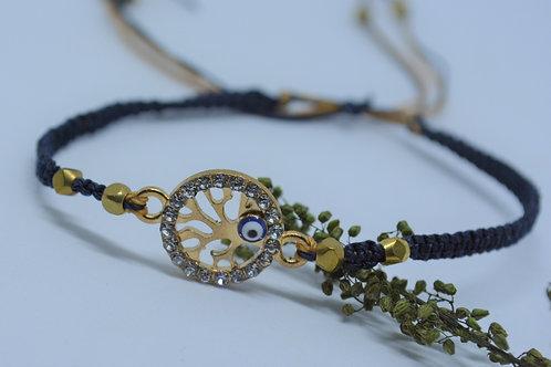 Beaded Bracelet with Evil Eye Charm