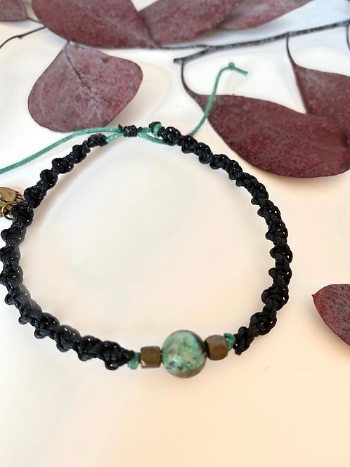 Ebony braided bracelet