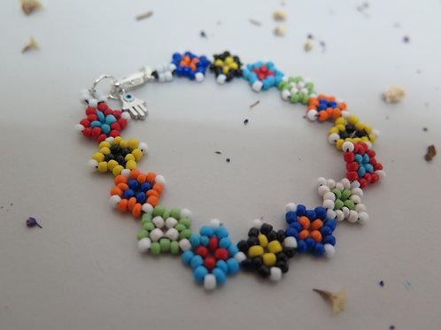 Multi-coloured Beaded Bracelet