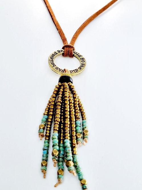 Oprah necklace Antique Bronze Brown