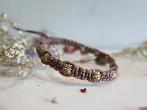 Cedar Braided Bracelet with Bronze Beads