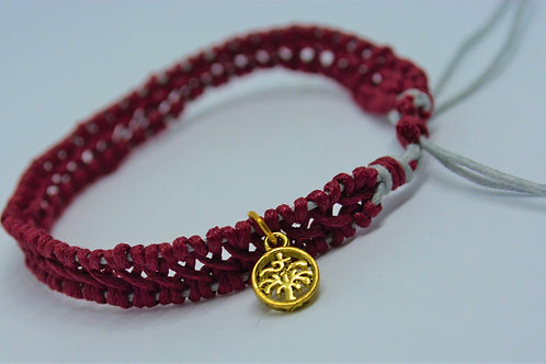 Crimson Double Braided Bracelet