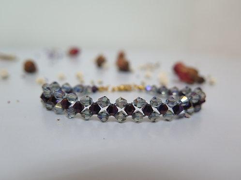 Mauve & Stone Beaded Bracelet