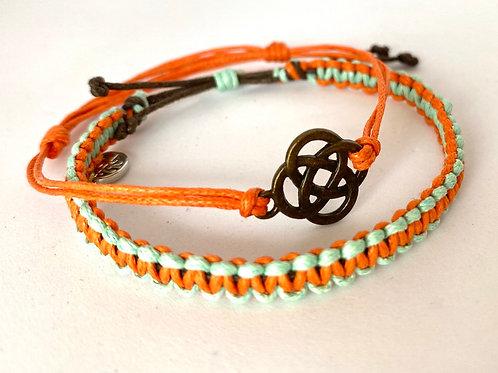 HisnHers orange and sea green pack