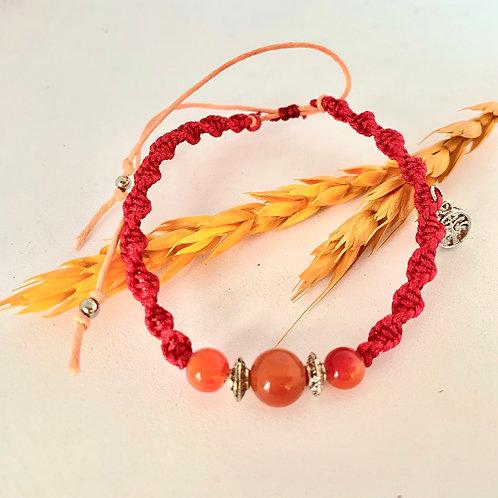 India agate braided bracelet