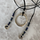 Thumbnail: Ellen necklace Silver Black