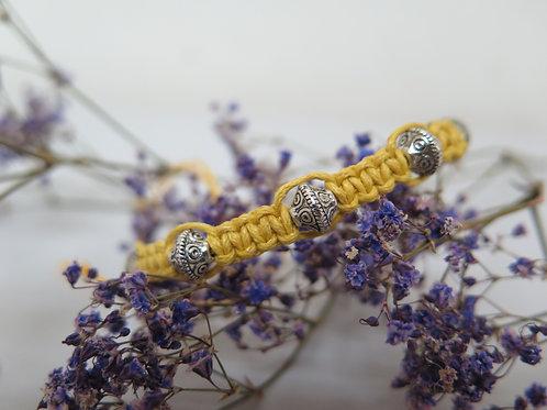 Yellow Braided Bracelet