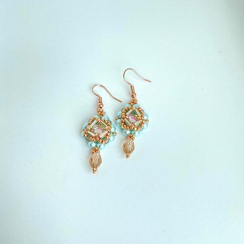 Cecilia earrings-Sea Green
