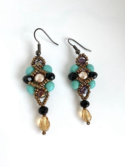 Eva earrings - turquoise