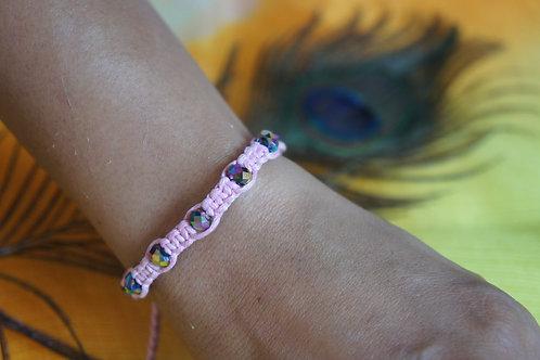 Blush Bracelet with Crystal Beads Bracelet