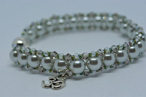 Silver Pearl Bracelet with Beads